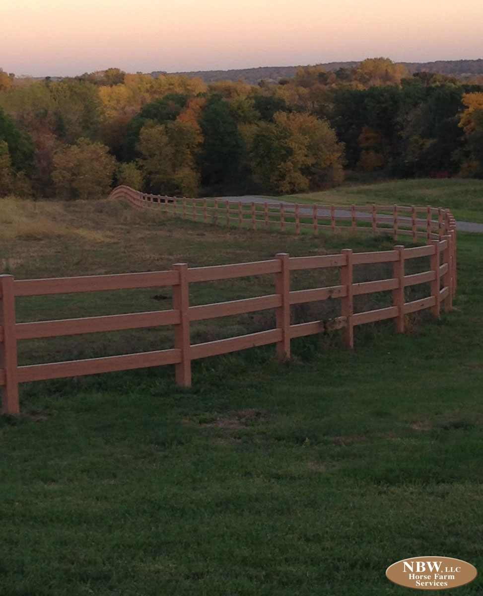 Vinyl Ranch Rail Fence – Horse Farm Services