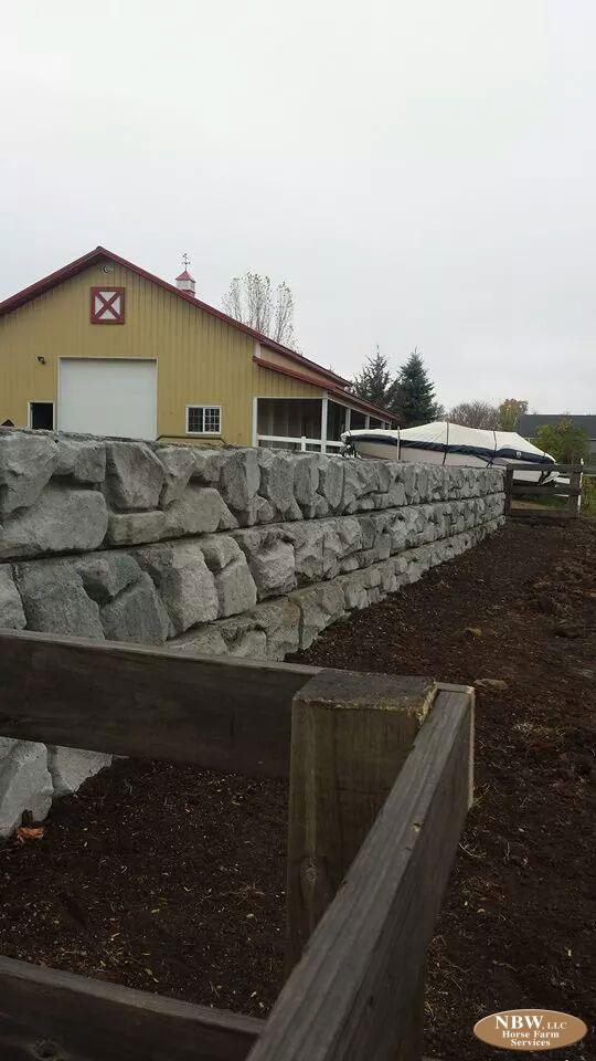 London Boulder Walls Horse Farm Services