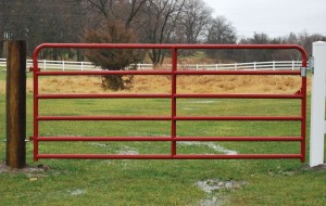 10 Foot Red Pasture Gate