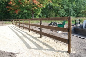 3-Rail Wood Fence