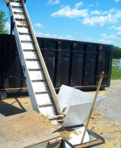Elevator used with 40 Yd Container