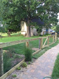 Front Yard Fencing-Woven Wire, Wood Rails, Custom Gates
