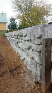 Installation of Retaining Wall Around Arena