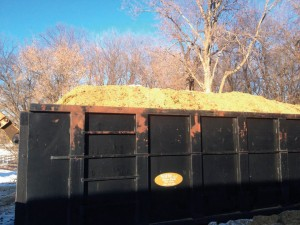 Manure in 40-yard Container